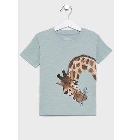 Name It Lichtblauwe t-shirt met giraffe
