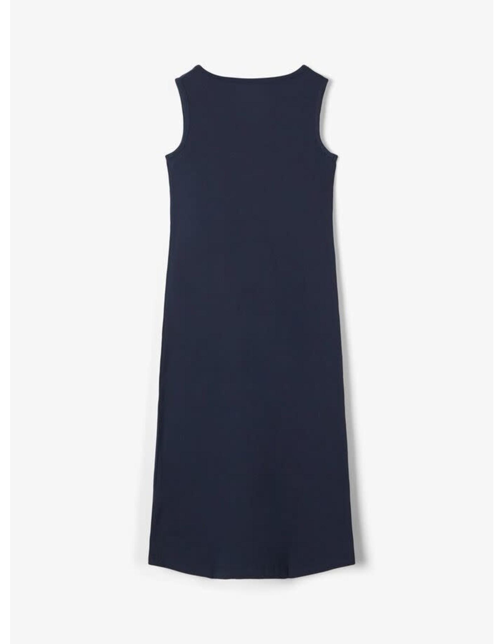 Name It Donkerblauwe lange jurk met palmbomen