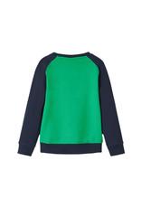 Name It Blauw/groene panda trui met bewegende bril