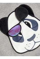 Name It Blauw/grijze panda trui met bewegende bril