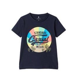 Name It Donkerblauwe t-shirt met bedrukking