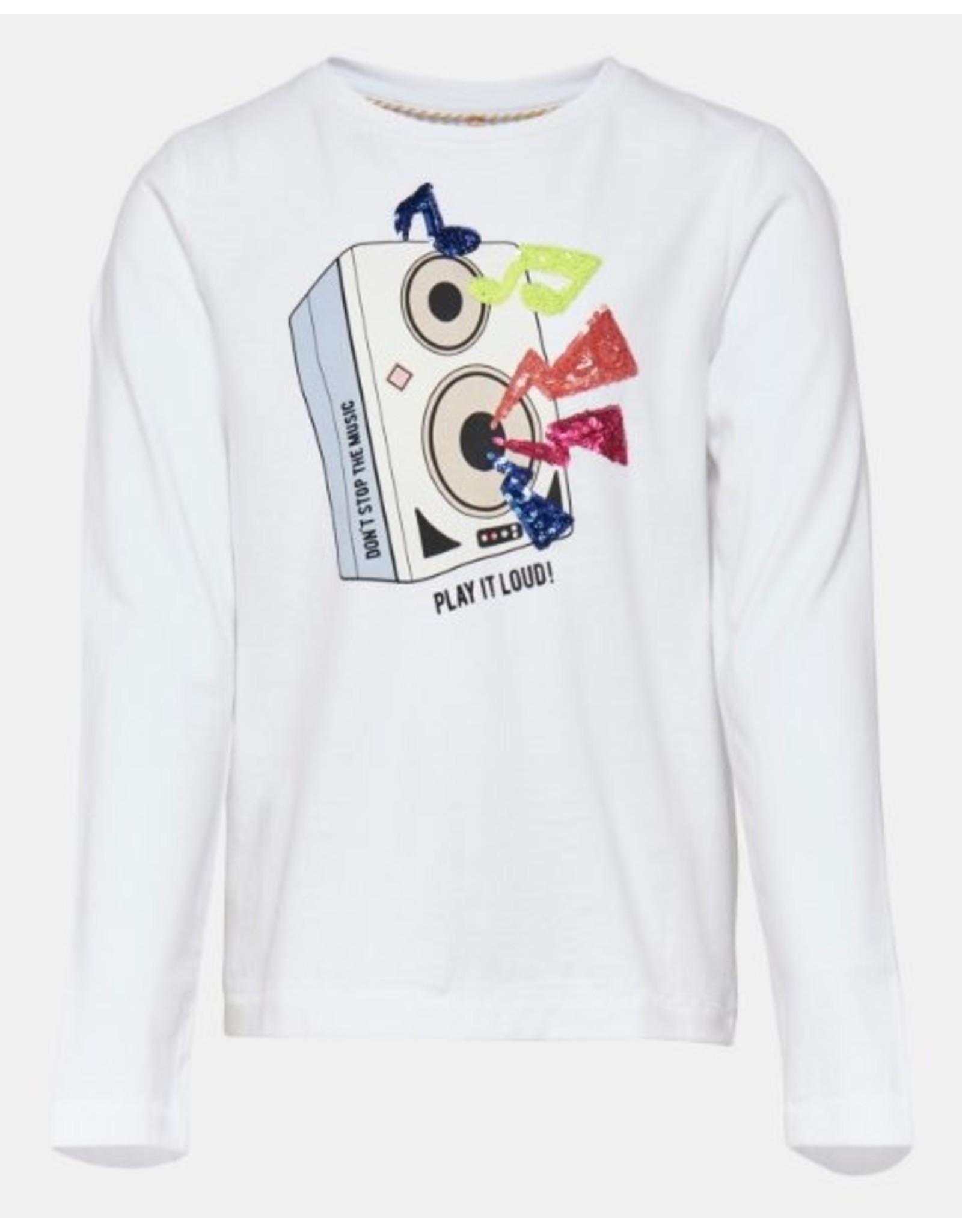 KIDS ONLY Witte t-shirt met speaker box print