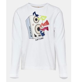 KIDS ONLY Witte t-shirt met speaker box print