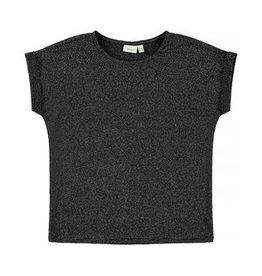 Name It Brede  zwarte t-shirt met glitterdraad