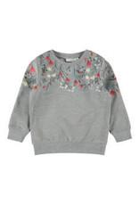 Name It Zachte grijze trui met bloemetjesmotief