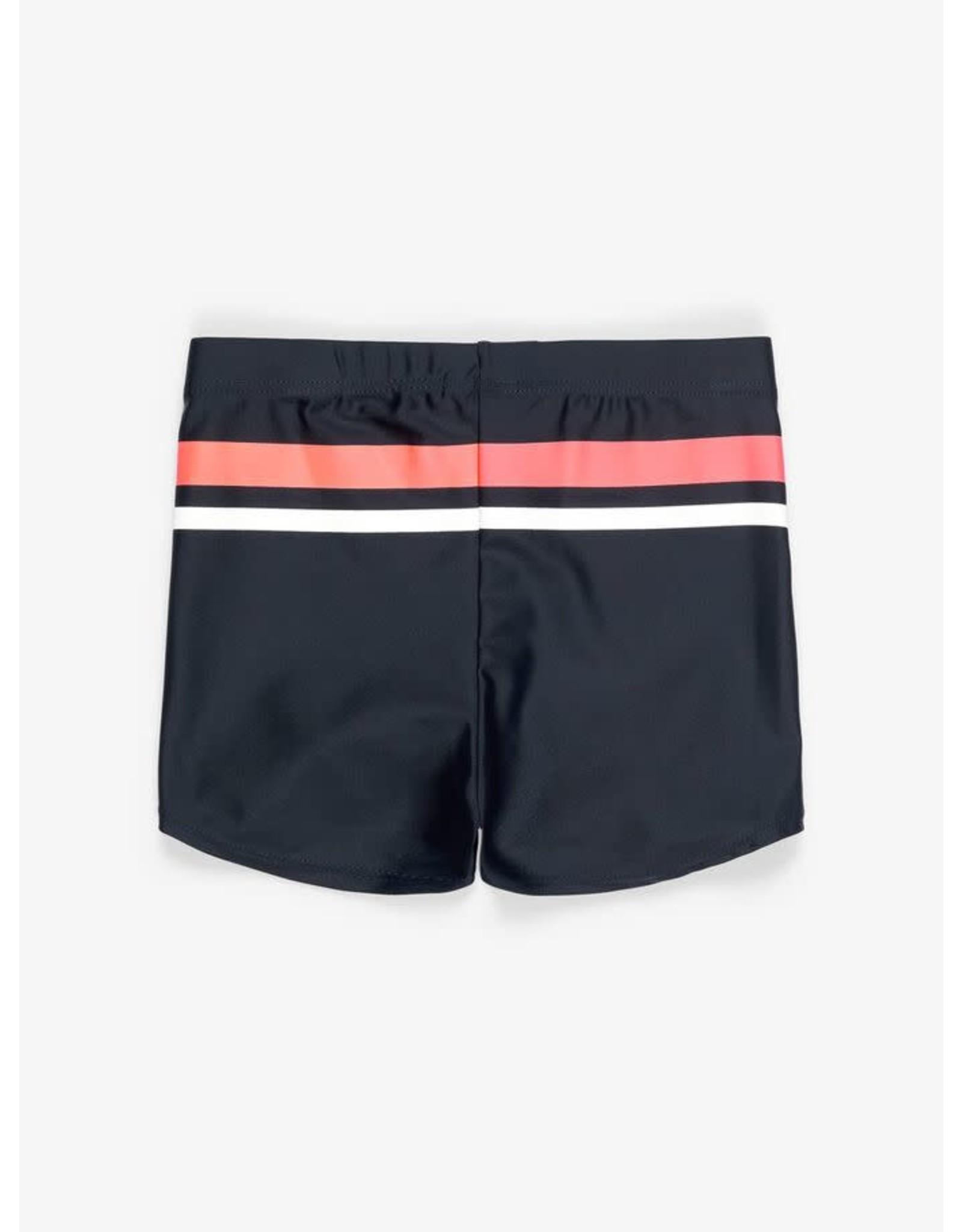 Name It Donkerblauwe zwemshort met 2 gekleurde strepen