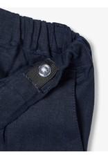 Name It Effen donkerblauwe linnen broek