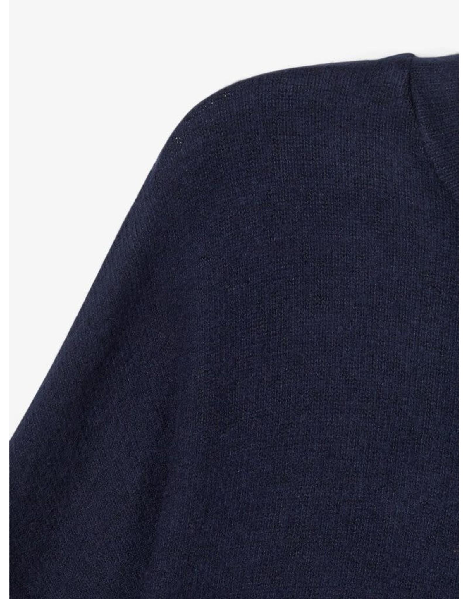 Name It Fijne zachte effen donkerblauwe trui meisjes