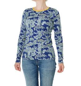 Duns VOLWASSENEN diepblauwe t-shirt met dille print