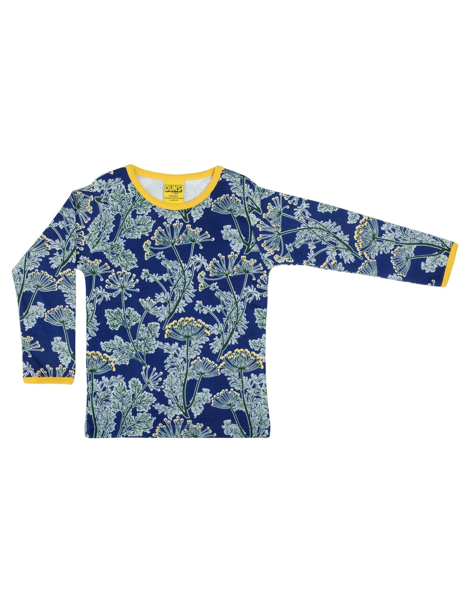 Duns Diepblauwe t-shirt met dille print