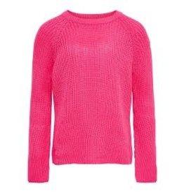 KIDS ONLY Fel roze gebreide meisjes trui