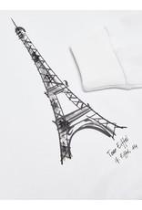 "KIDS ONLY Witte ""Paris"" trui met pofmouwen"