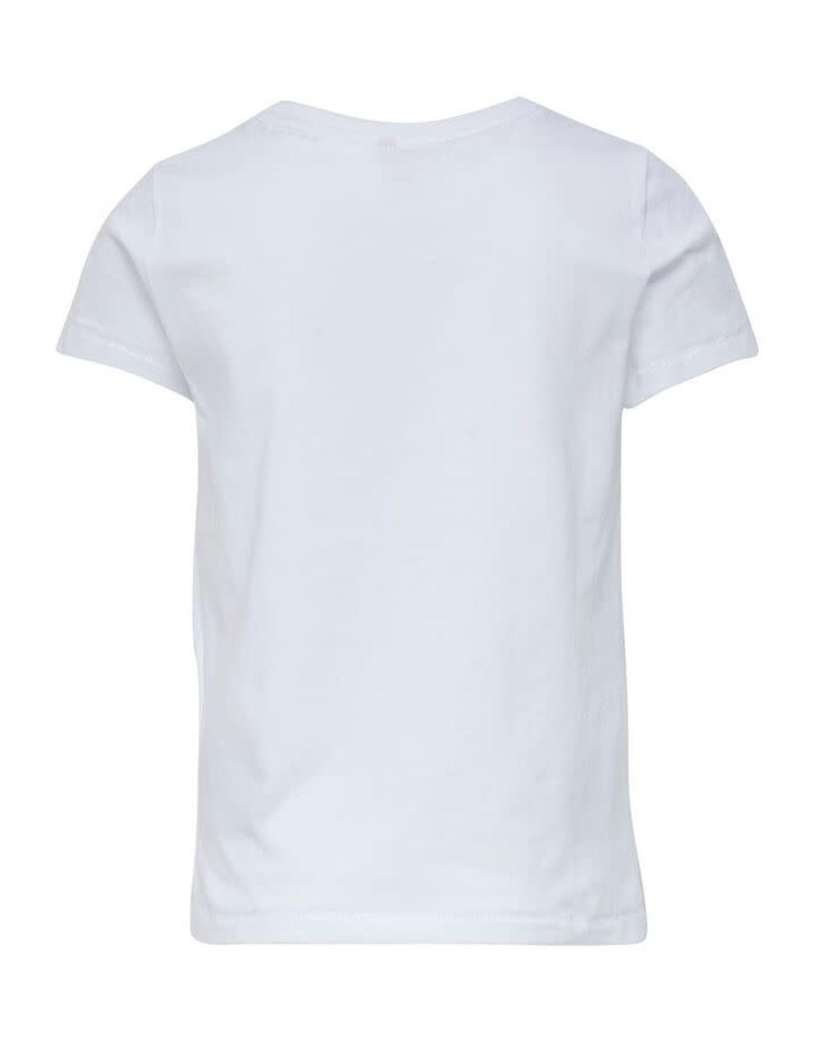 KIDS ONLY Witte t-shirt met bloem bedrukking
