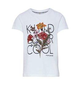 KIDS ONLY Witte t-shirt met bloem bedrukking - LAATSTE MAAT 134/140