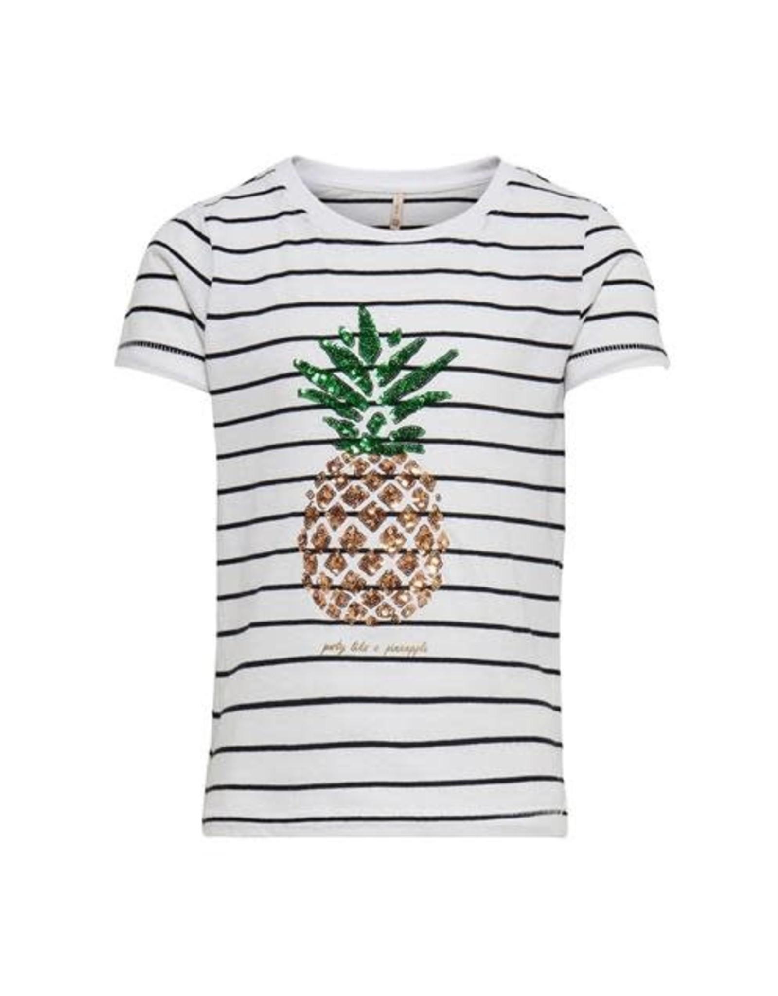KIDS ONLY Gestreepte -shirt met glitter ananas