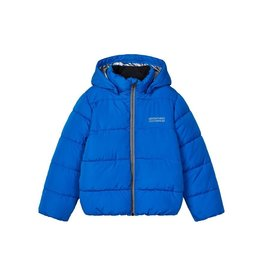 Name It Fel blauwe puffer jacket jongens winterjas