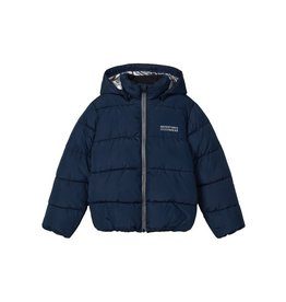 Name It Donkerblauwe warme puffer jacket jongens winterjas