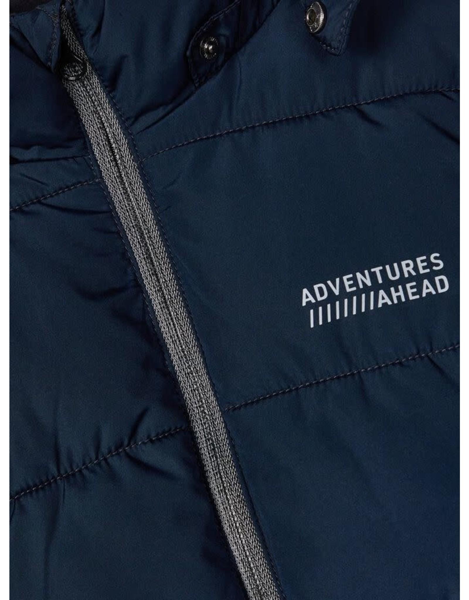 Name It Donkerblauwe warme puffer jacket jongens winterjas