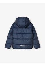 Name It Blauw gemeleerde dikke winterjas