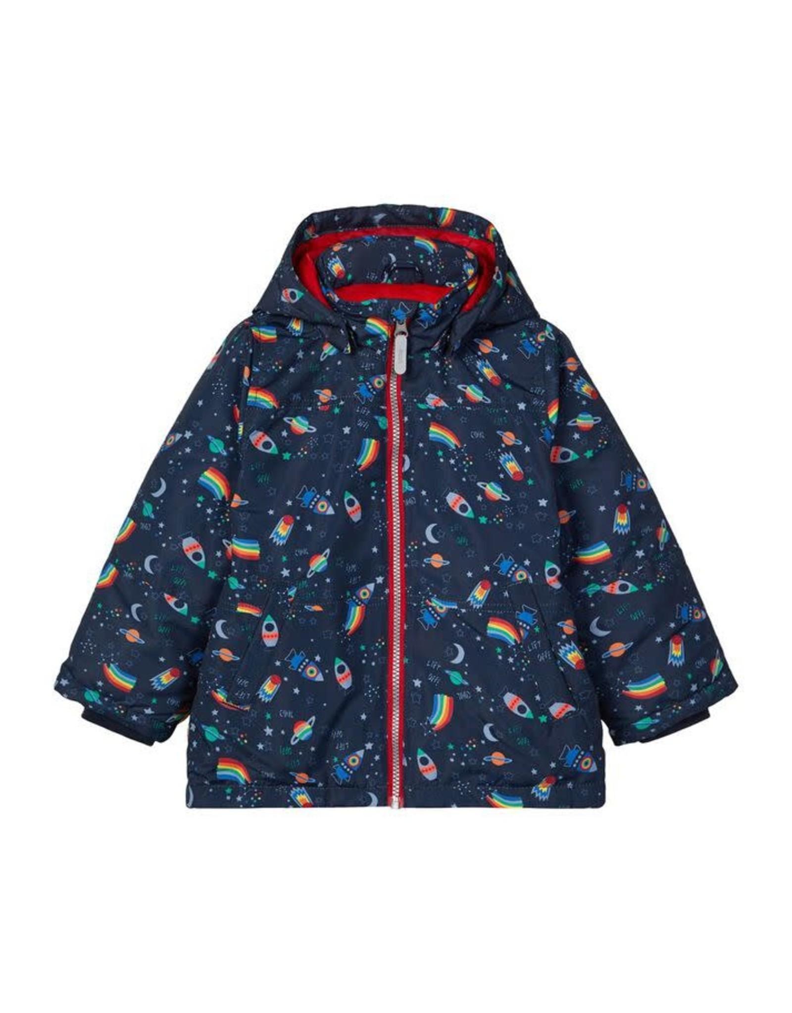 Name It Winterjas met raketten en regenbogen
