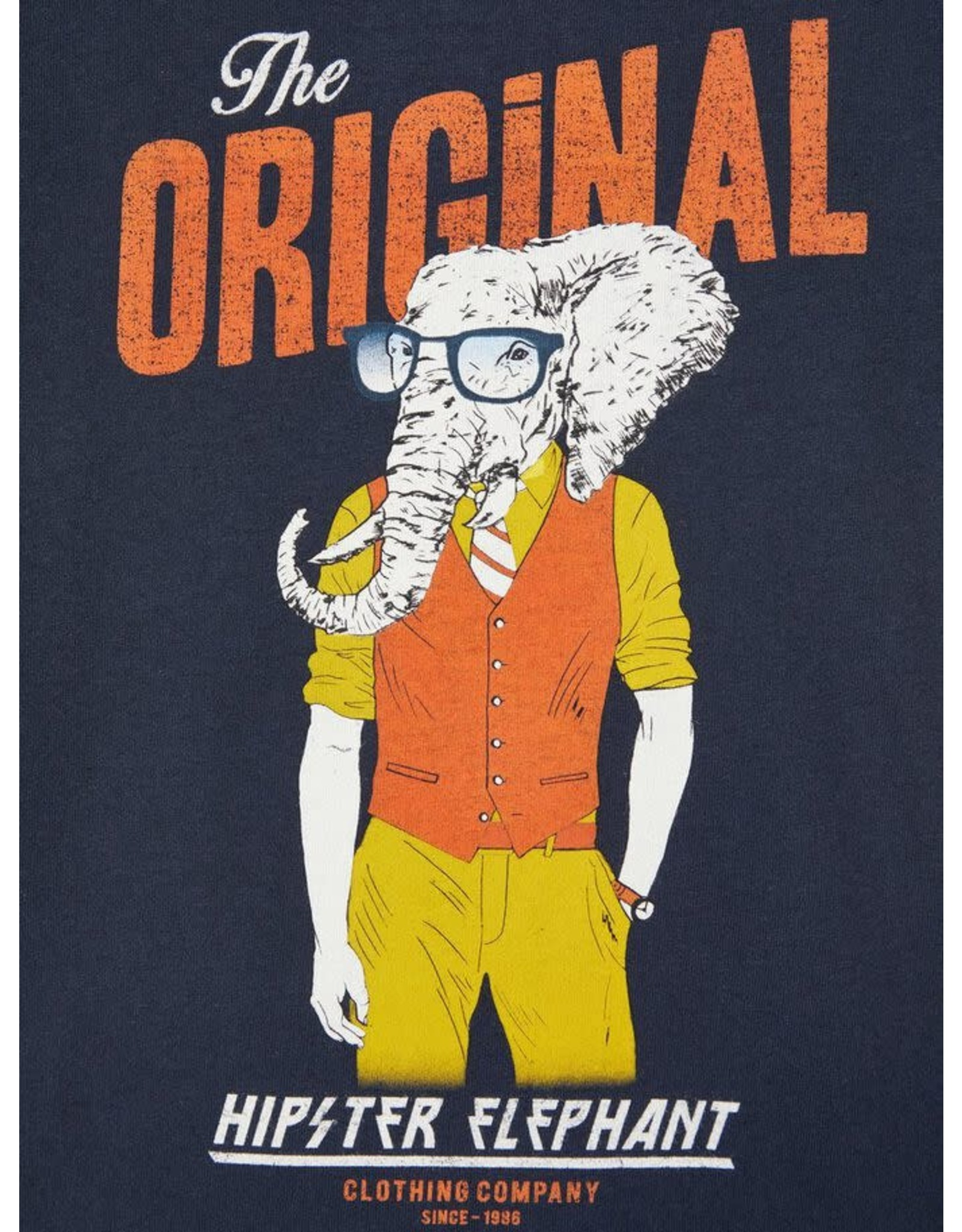Name It Blauwe t-shirt met bedrukking olifant