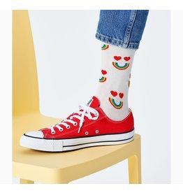 Happy Socks Sokken met regenboog smileys