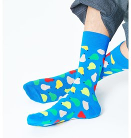 Happy Socks Blauwe sokken met gekleurde peren (MAAT 36/40)