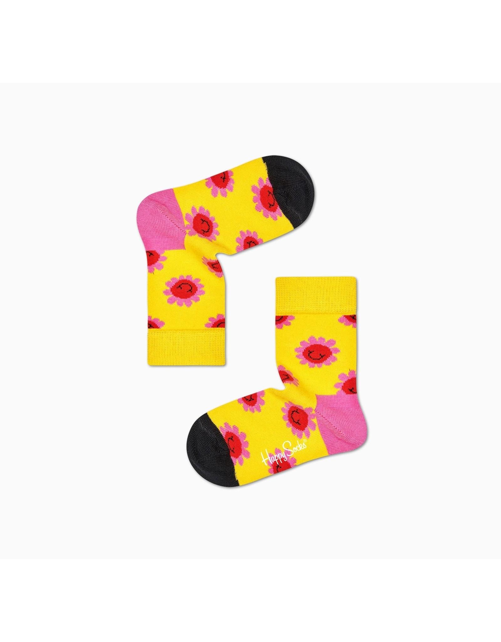 Happy Socks Vrolijke kindersokken met lachende bloemen