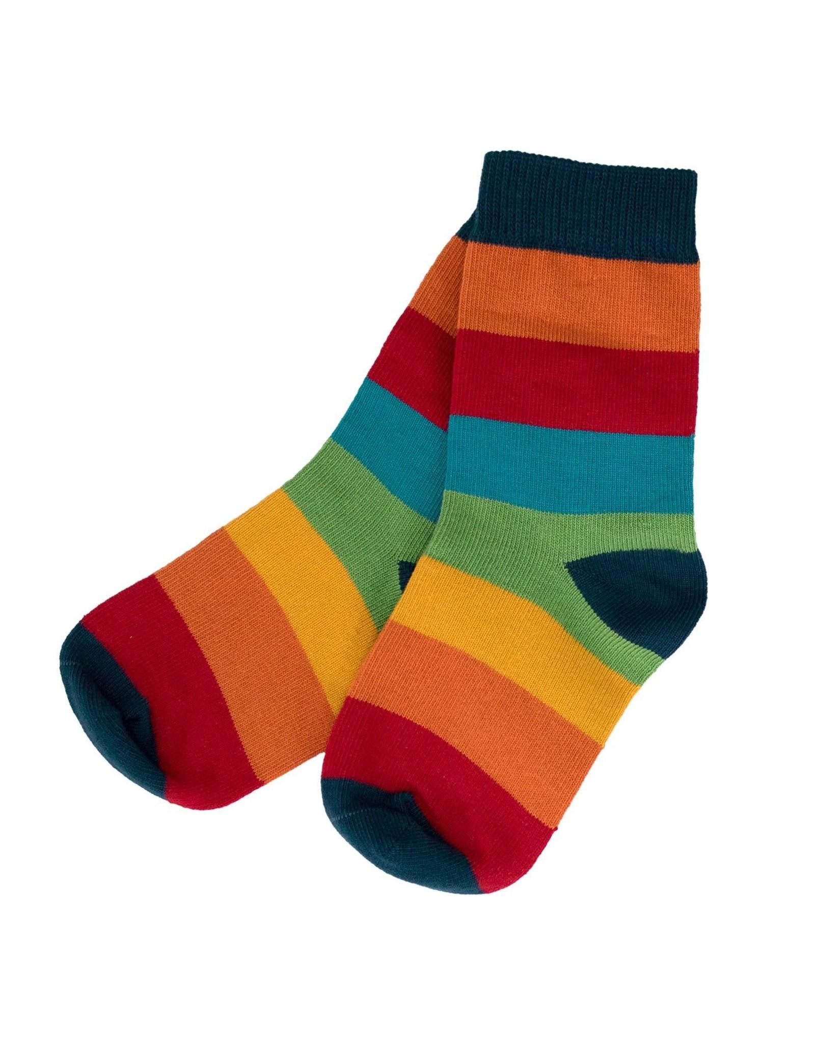 Villervalla Regenboog gestreepte sokken