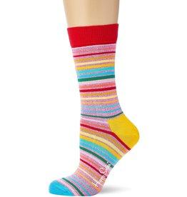 Happy Socks Glitter sokken voor volwassenen met streepjes