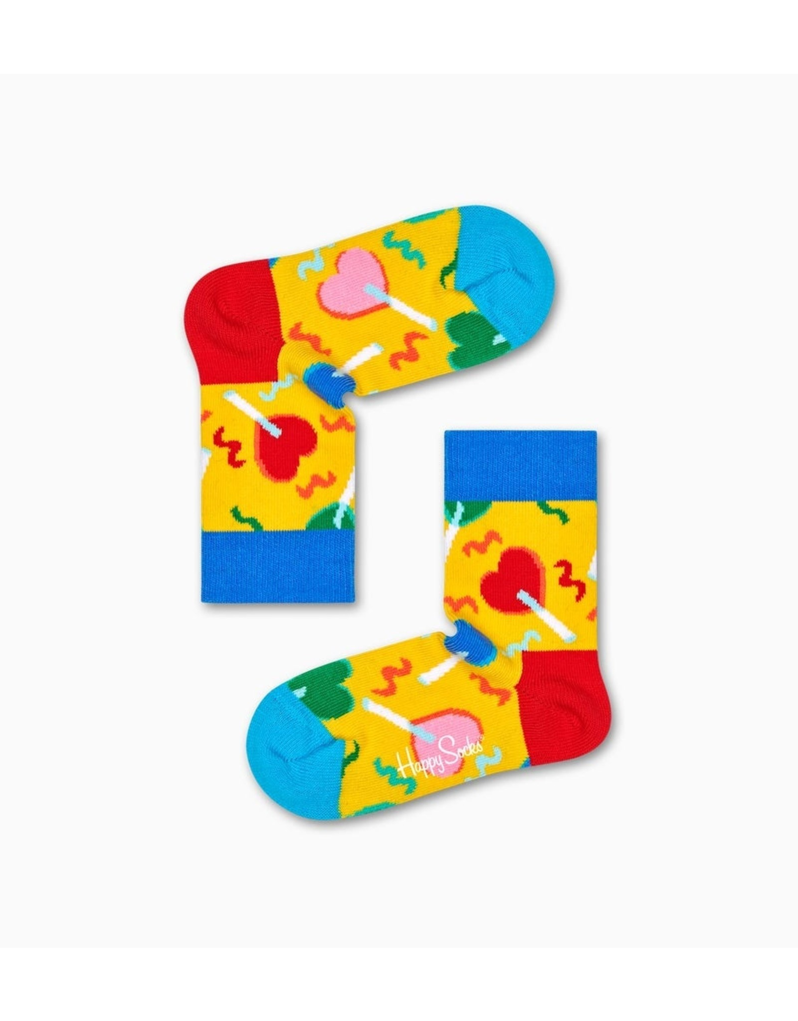 Happy Socks Kindersokken met hartjes lolly's