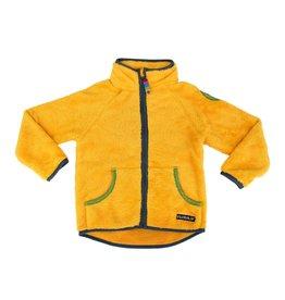 Villervalla Gele teddy fleece unisex trui met rits
