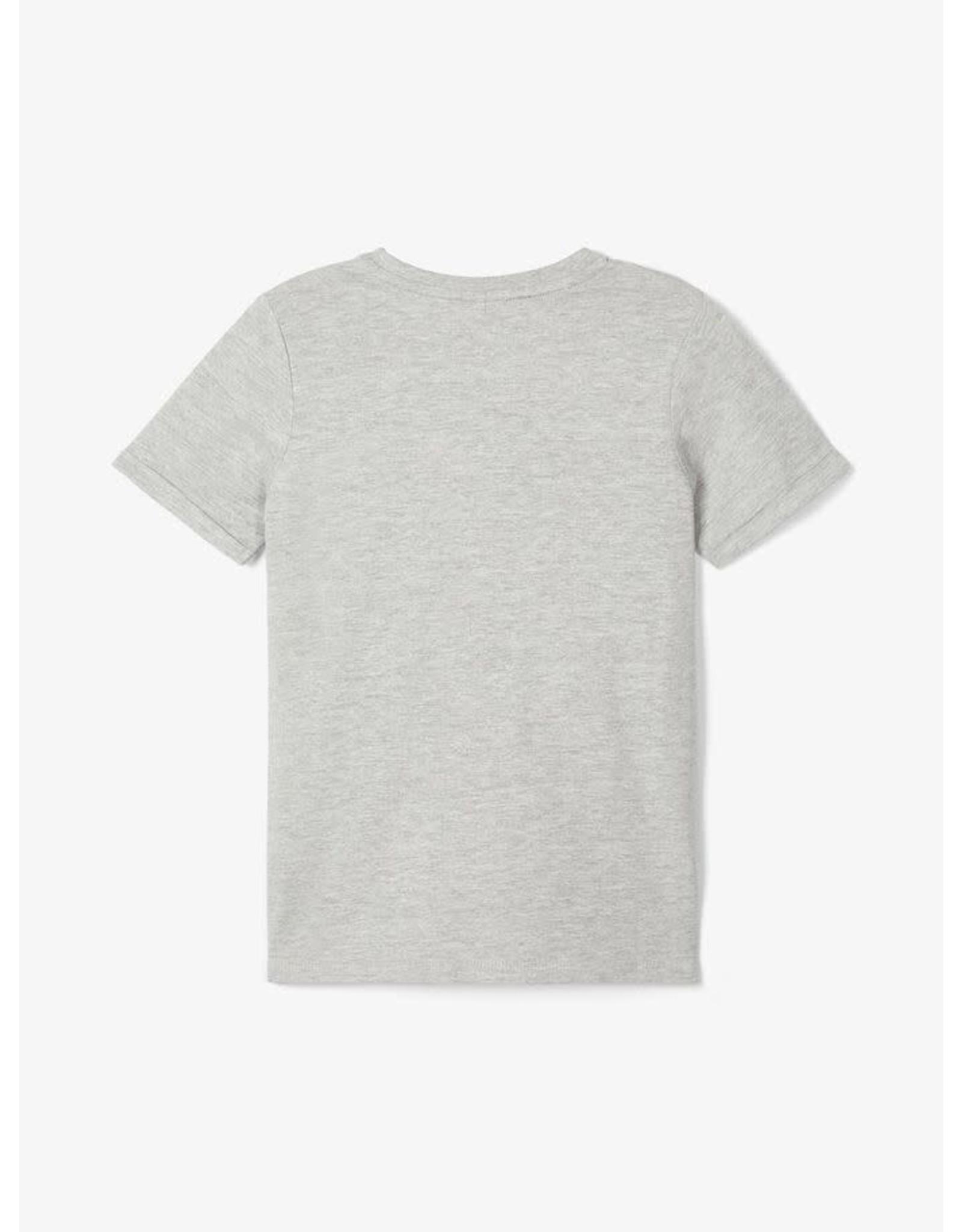 Name It Grijze t-shirt met bedrukking zebra