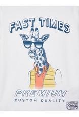 Name It Witte t-shirt met bedrukking giraffe