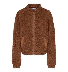 KIDS ONLY Zachte teddy trui met rits voor meisjes