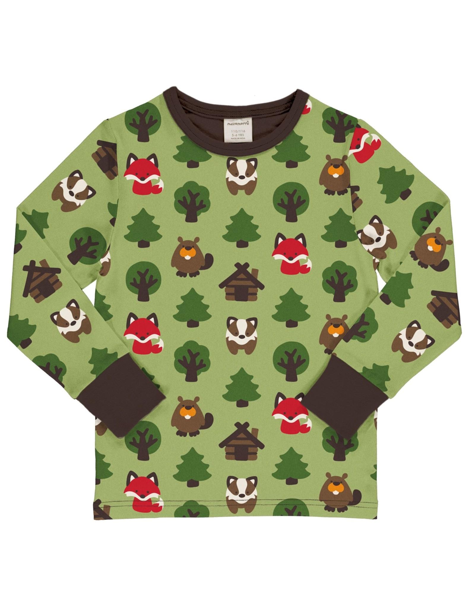 Maxomorra T-shirt met leuke printjes uit het bos