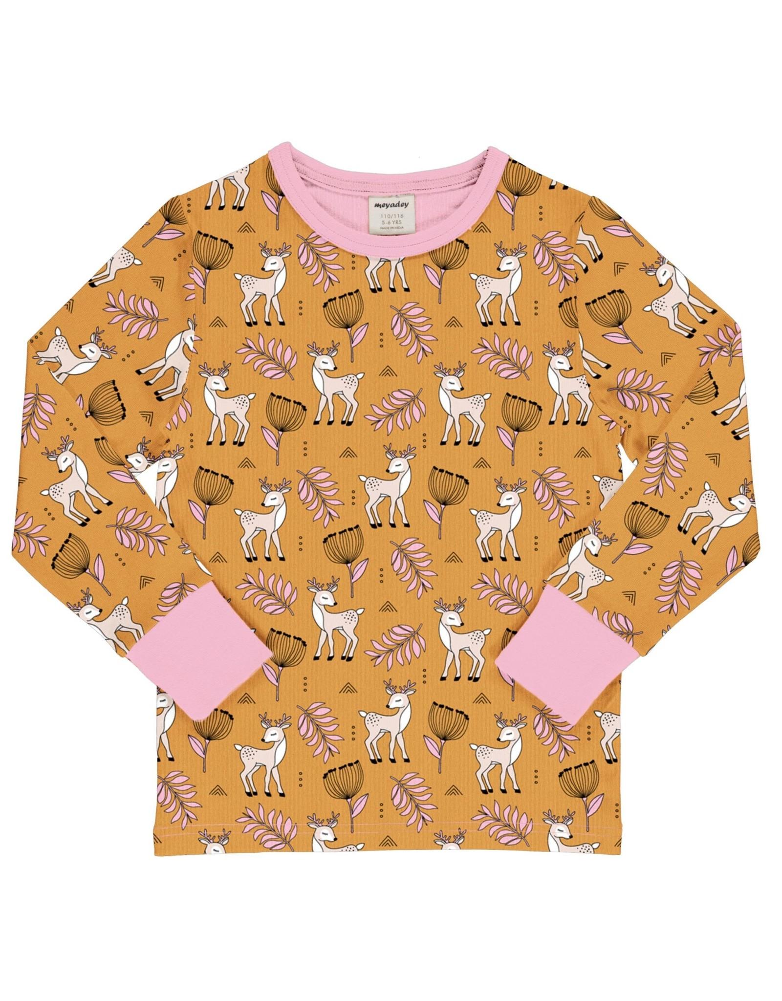 Meyadey T-shirt met hertjes print