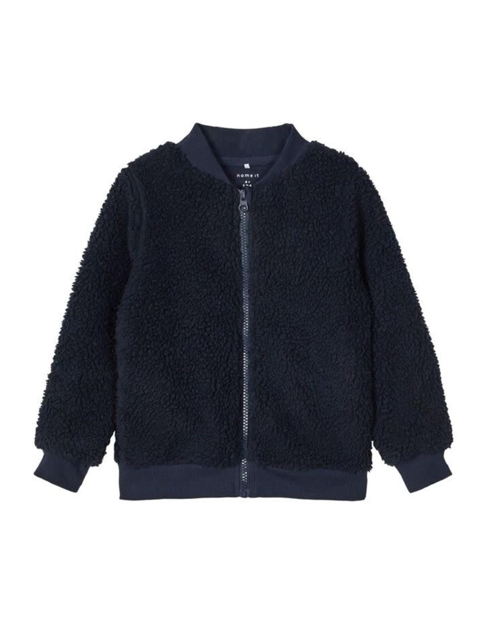 Name It Zachte teddy trui met rits voor jongens