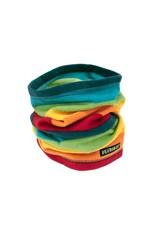 Villervalla Fleece buff sjaal met regenboog strepen