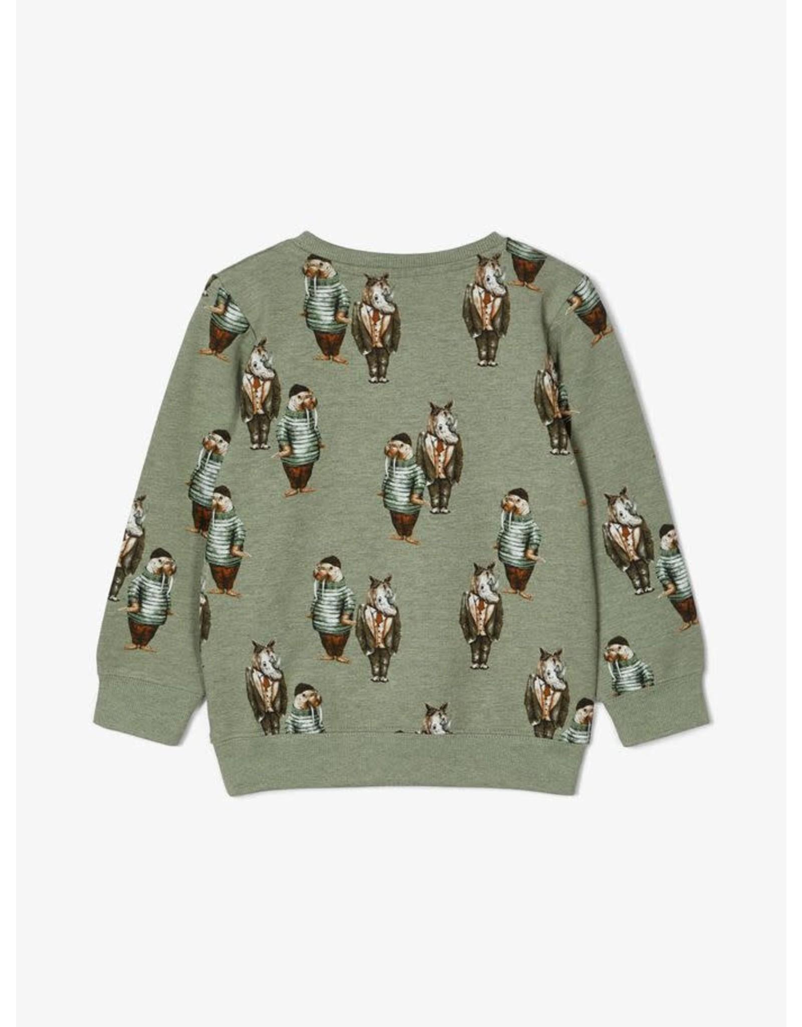 Name It Trui met walrussen en neushoorns