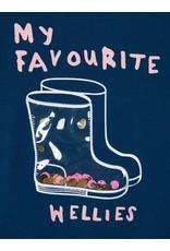 Name It Leuke blauwe meisjes trui met laarzen