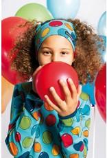 Villervalla Blauwe haarband met bubbels print