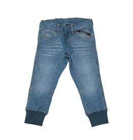 Villervalla Zachte unisex jogging jeans broek met rekkers