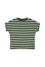Name It T-shirt (breder model) met groene-witte glitter streepjes