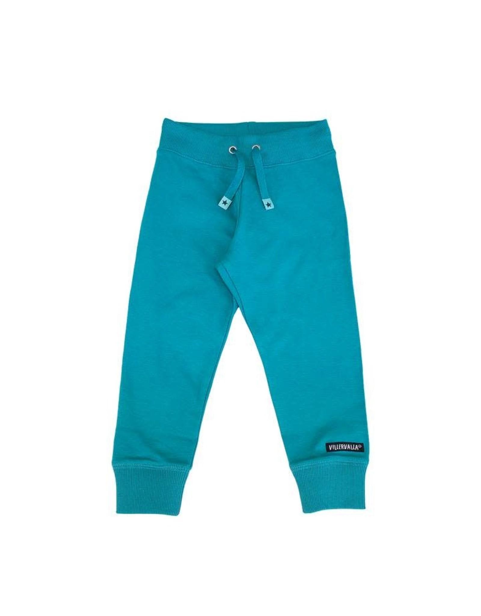 Villervalla Zachte fel blauwe jogging broek