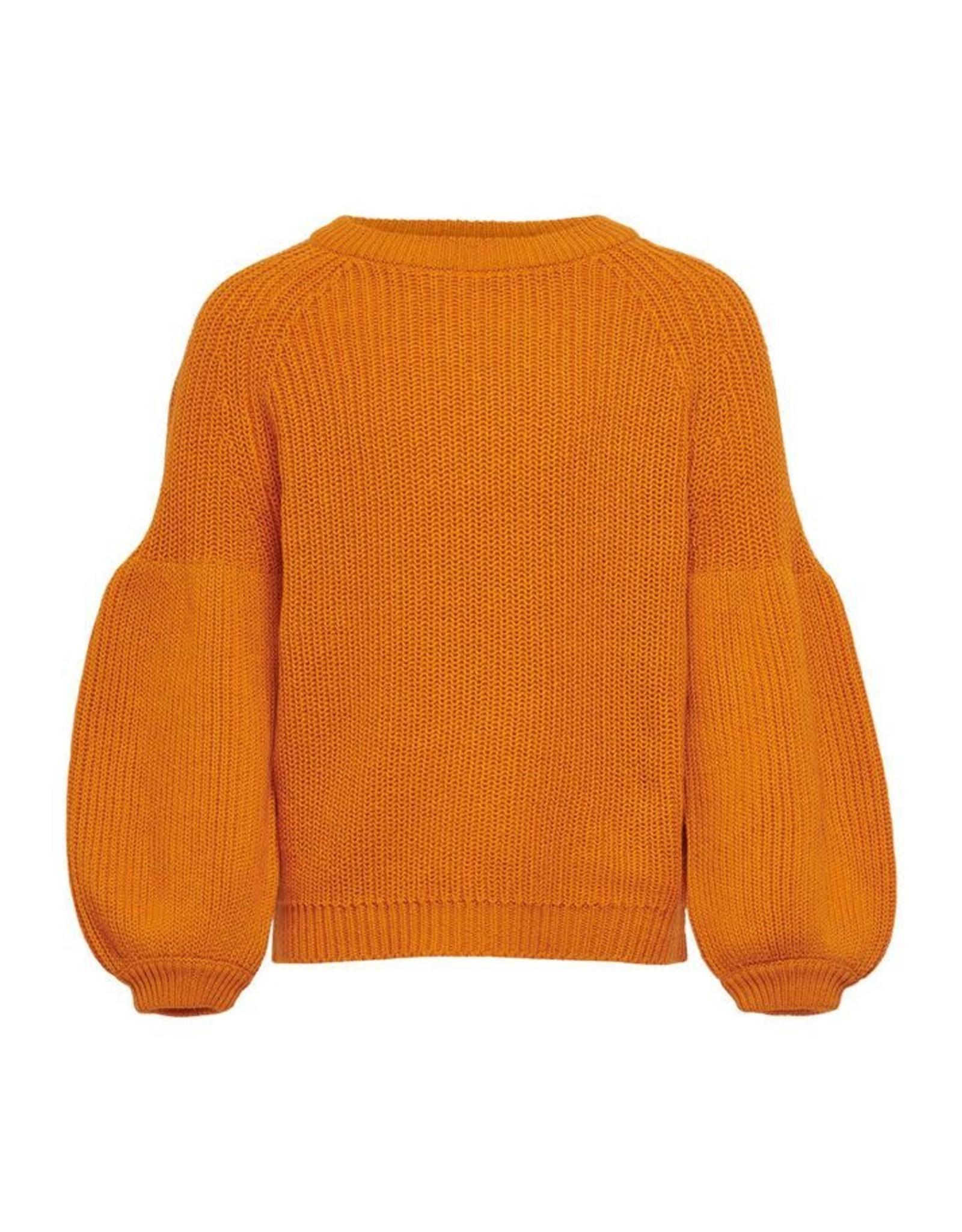 KIDS ONLY Oker oranje trui met vlindermouwen