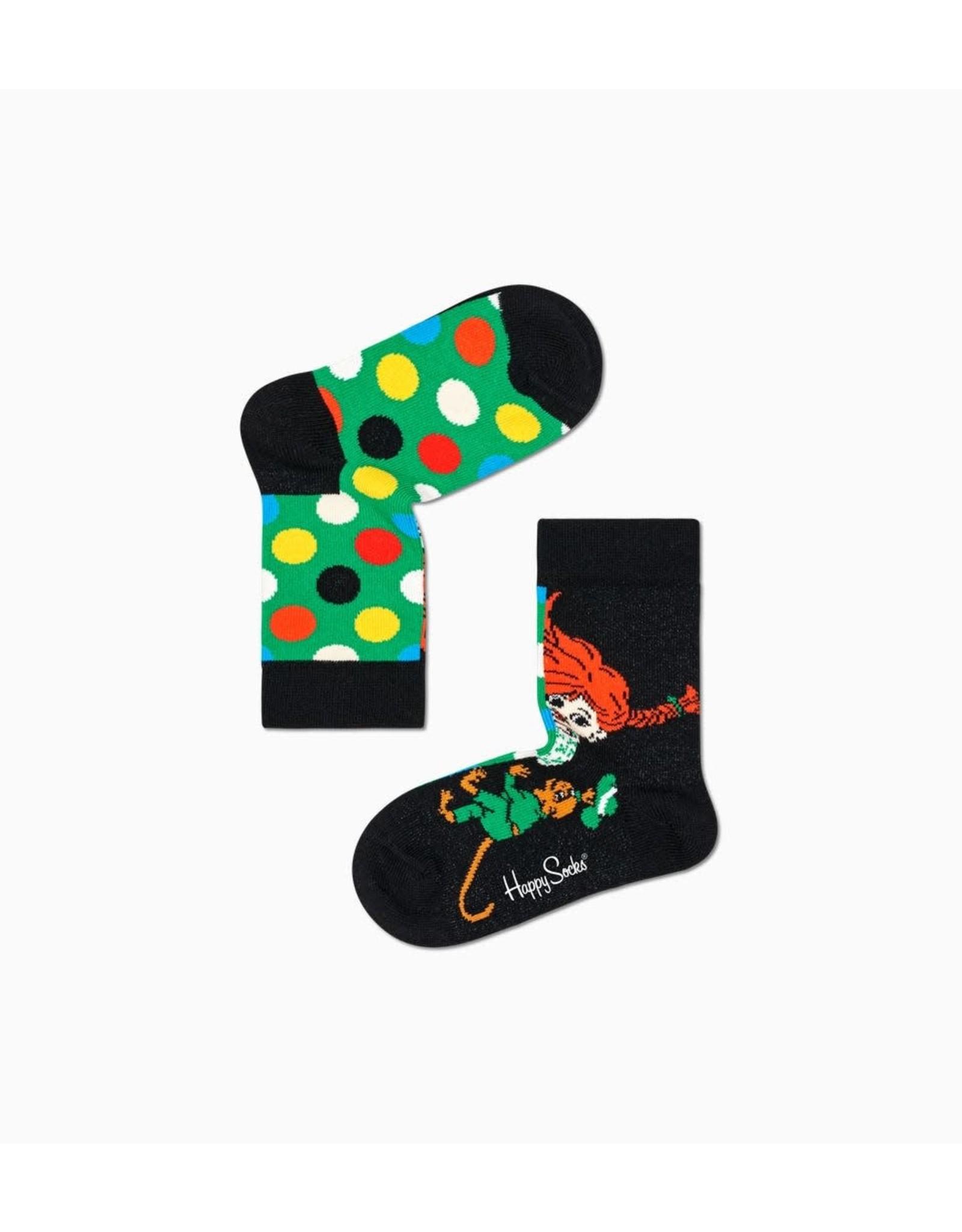Happy Socks 2 verschillende Pippi Langkous sokken