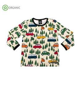Villervalla T-shirt met auto's in de Zweedse bossen