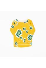 ALBA of Denmark Gele retro t-shirt met gele/witte bloemen