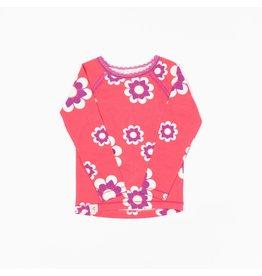 ALBA of Denmark Roze retro t-shirt met bloemen